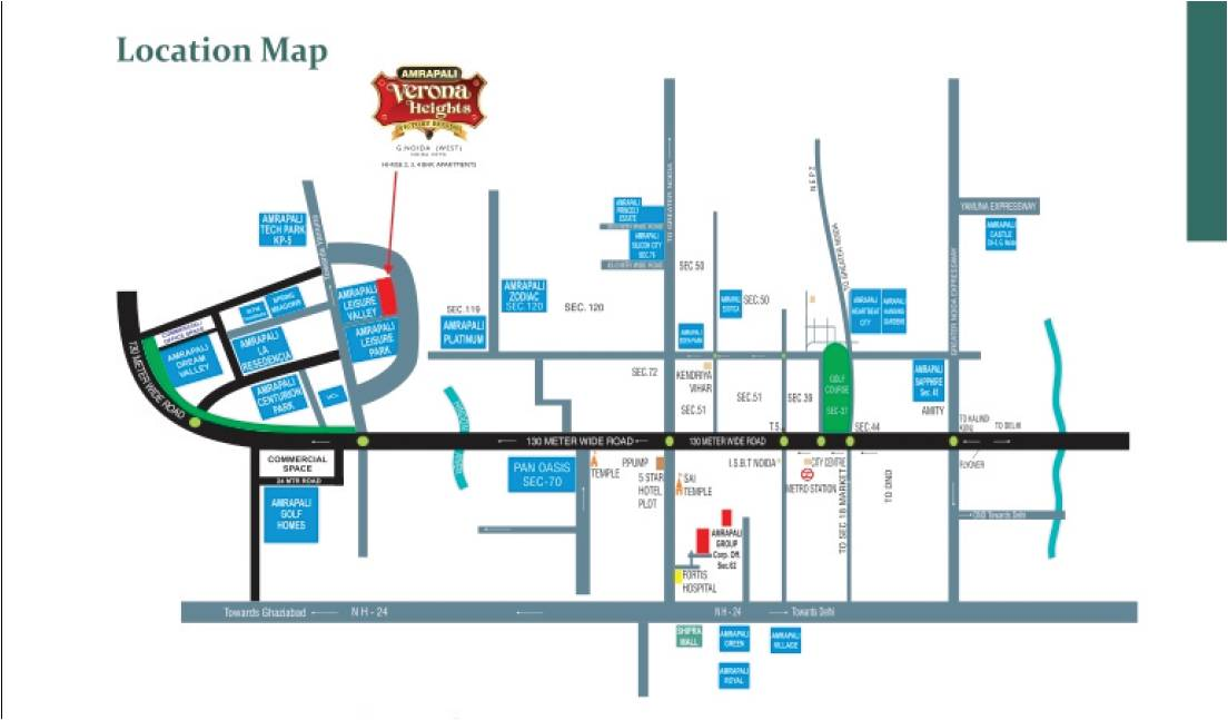 Amrapali Verona Heights - Location Map