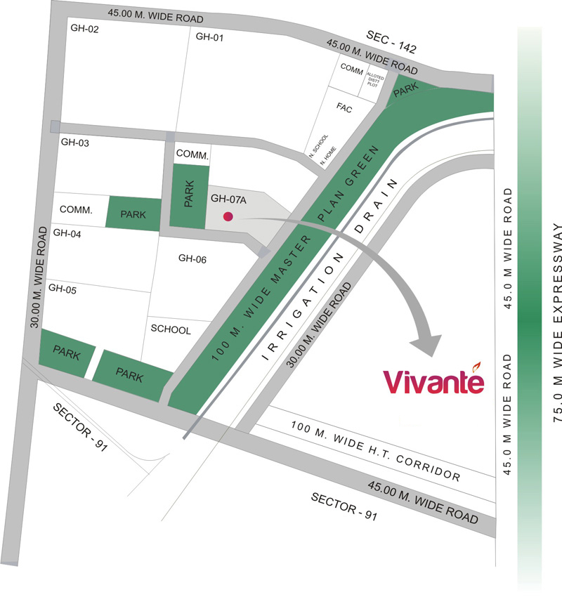 Location Map - Gulshan Vivante