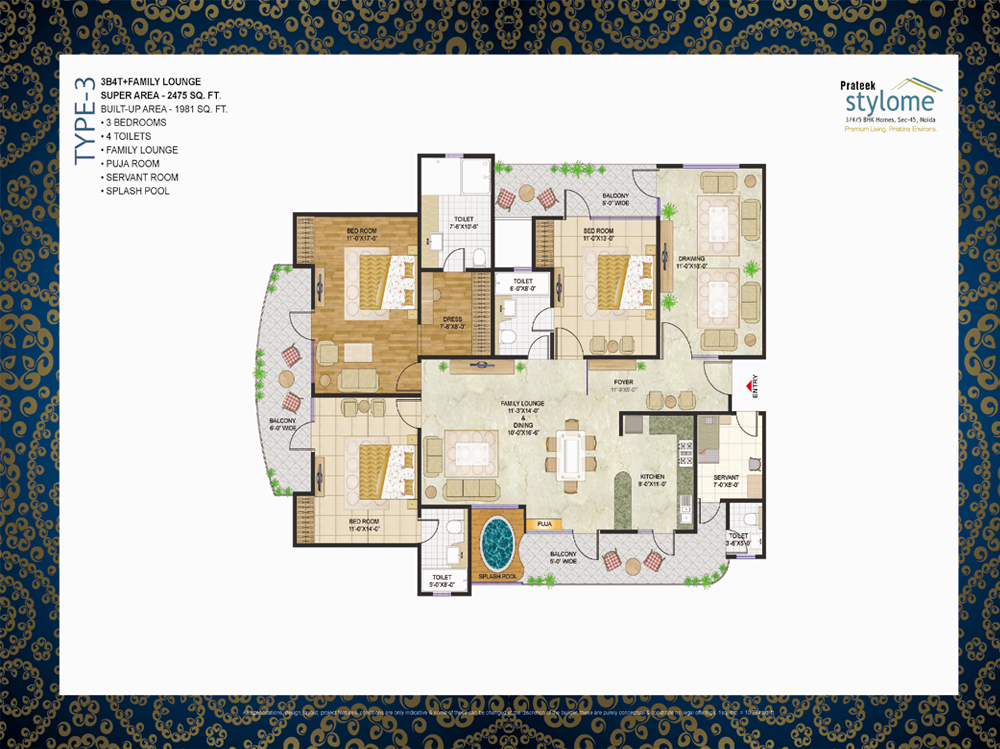 Prateek group prateek stylome resale sadarpur sector 45 for 3000 sq ft gym layout