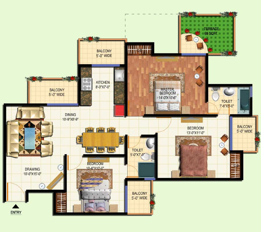 Amrapali group amrapali terrace homes resale noida for Terrace homes