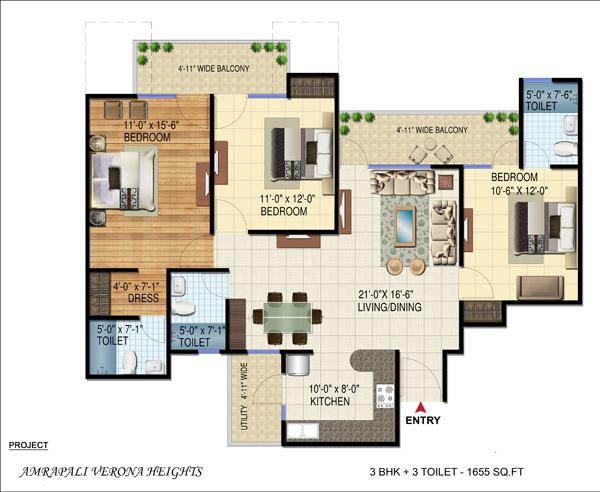 Amrapali Group Amrapali Verona Heights Resale Noida Extension Floor Plan Price List