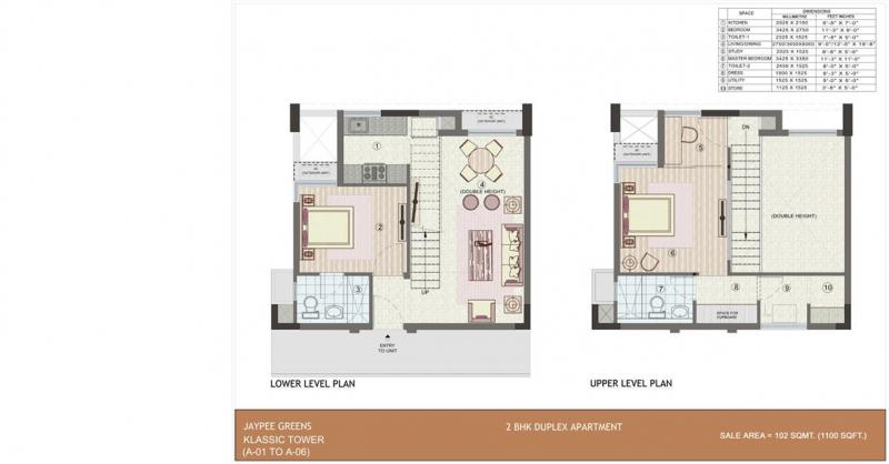 2 bhk 1100 sq ft residential apartment jaypee wish town for 1 bhk duplex house plans
