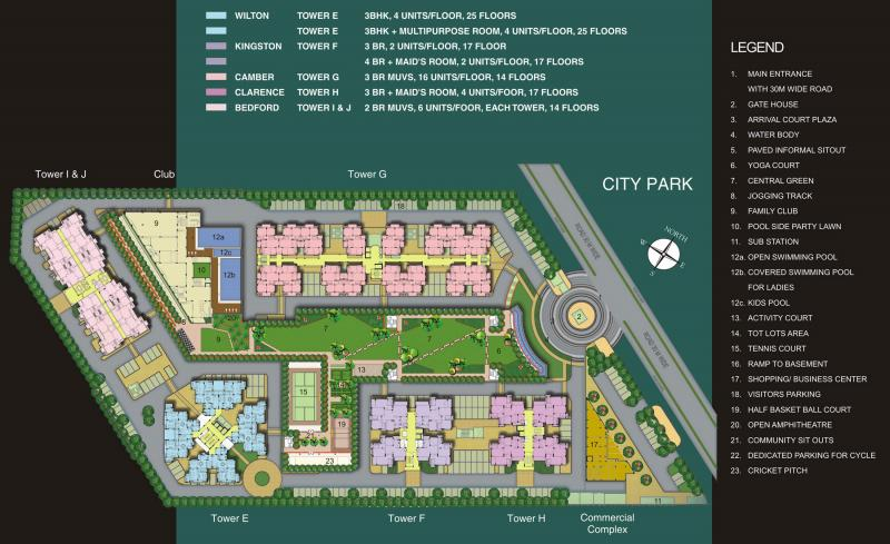 3 bhk 2000 sq ft residential apartment assotech windsor for 2000 sq ft gym layout